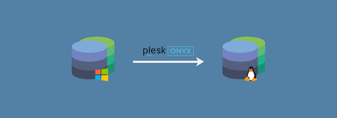 Plesk-Onyx Windows to Linux domain migration