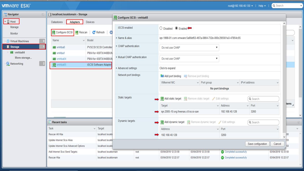 How To Create ISCSI Storage for VMware ESXi with Free NAS 11