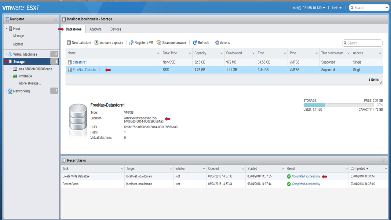 How To Create ISCSI Storage for VMware ESXi with Free NAS 11 - Sysally
