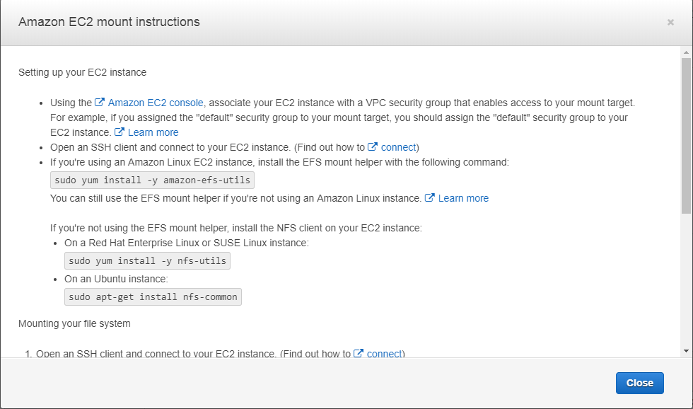 Amazon EFS Performance Considerations and Overview - Sysally