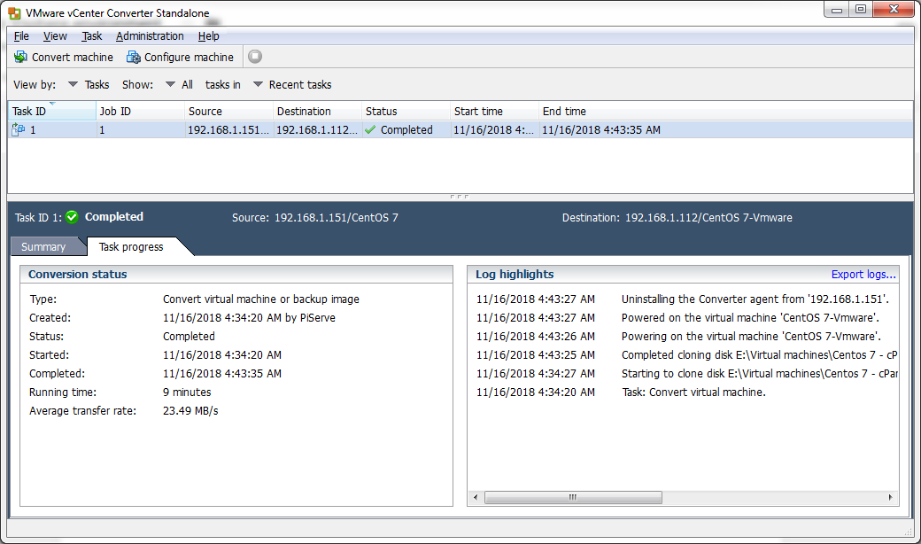 Hyper V to VMware And Physical to VMware Migration - Sysally